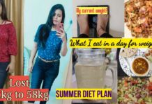 Weightloss diet plan for Summer with healthy recipes || my current weight? || Lost 5-6 kg weight