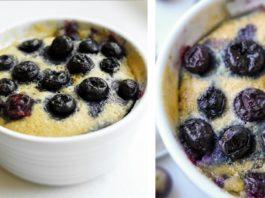 1 MINUTE Keto Blueberry Muffin Recipe Made In A Mug