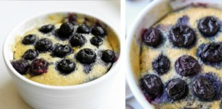 1 MINUTE Keto Blueberry Muffin Recipe Made In A Mug