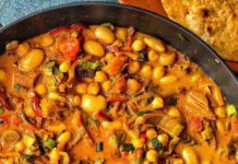 Butter Bean Chickpea Curry Recipe | Vegan Coconut Milk Curry