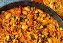 Butter Bean Chickpea Curry Recipe | Vegan Coconut Milk Curry
