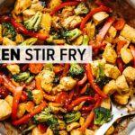 CHICKEN STIR FRY   easy, healthy 30-minute dinner recipe!