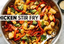 CHICKEN STIR FRY | easy, healthy 30-minute dinner recipe!