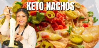 EASY KETO NACHOS! LOADED, LOW CARB QUESO NACHOS! ONLY 1 NET CARB!