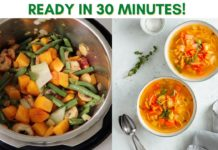 Instant Pot Vegetable Soup Recipe // Easy, Healthy, 30-Minute Meal