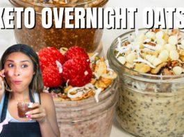 KETO OVERNIGHT OATS 3 WAYS! Easy How To Make Keto Overnight Oats Recipe