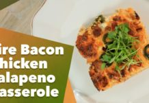 Keto Fire Bacon Chicken Jalapeño Casserole Recipe