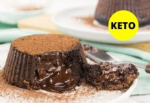 Keto Lava Cake - Low Carb Sugar Free Recipe