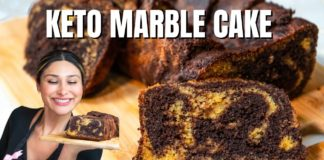 Keto Marble Cake (Dairy Free)! How to Make Keto Marble Cake Recipe | Only 2 Net Carbs!