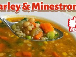 MINESTRONE and BARLEY SOUP combination 😋 Simple and Delicious Vegetarian Soup Recipe 👌