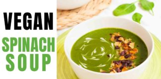 Quick Vegan Cream of Spinach Soup | My Pure Plants - plant-based and gluten-free recipes