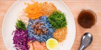 Rainbow Rice Salad Recipe - Khao Yum ข้าวยำ - Thai Recipes