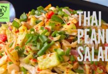 THAI PEANUT SALAD | HOW TO MAKE THAI PEANUT SALAD DRESSING | HEALTHY SALAD RECIPE | SALADS