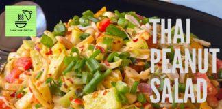 THAI PEANUT SALAD | HOW TO MAKE THAI PEANUT SALAD DRESSING | HEALTHY SALAD RECIPE | SALADS