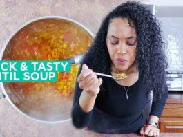 Vegan Lentil Soup | High Protein Vegan Food