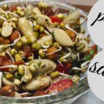 high protein salad recipe   spruots salad recipe   weight loss salad