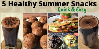 5 Healthy Summer Snack Recipes | Quick Easy & Delicious Indian Veg Snack Ideas | High Protein