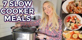 7 SLOW COOKER MEALS, EASY & HEALTHY CROCKPOT MEALS! Emily Norris