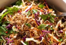 Asian Slaw - Crunchy Asian Cabbage Salad with Sesame Dressing