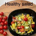 Avocado, cucumber salad//Healthy salad//easy salad recipes//Avocado recipe