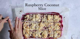 COCONUT RASPBERRY SLICE   Gluten Free Sugar Free Dairy Free Recipe