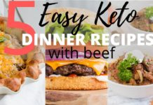 EASY KETO DINNER RECIPES USING BEEF + DINNER DONE IN 30 MINUTES!! --Keto Meal Prep Instructions!!