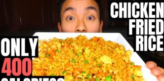 HEALTHY LOW CARB CHICKEN FRIED RICE RECIPE | High Protein!