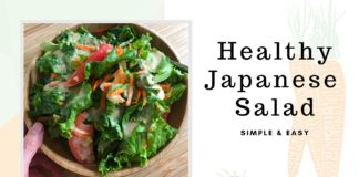 Japanese Salad Recipe | Healthy and easy, vegetarian meal prep