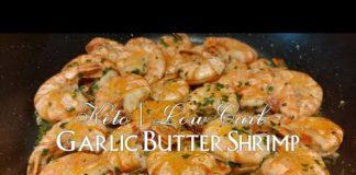 Keto GARLIC BUTTER SHRIMP (Low Carb Recipe) || Alma's Kitchen Trebbin