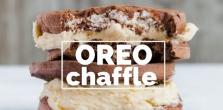 OREO CHAFFLE RECIPE with copycat sugar free OREO FILLING | NO WHIPPED CREAM! | The BEST chaffle