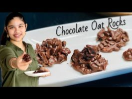 Sugar Free Chocolate Oats Rocks   Chocolate Oats Recipe   Eggless Chocolate Oats & Nuts Rocks
