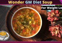 Wonder Soup Recipe | Healthy Quick Easy Vegetarian Soup For Weight Loss | GM Dinner to Lose Weight