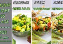 weight loss salad recipes | 3 variety of salads and 3 variety of salad dressing