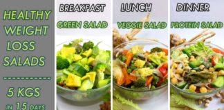 weight loss salad recipes   3 variety of salads and 3 variety of salad dressing