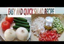 EASY AND QUICK SALAD RECIPE