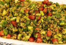 GREEK STYLE LENTIL TABBOULEH: Vegan Lenten Recipes