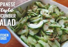 How to Make a Japanese Cucumber Salad with Vinegar | Cucumber Salad Recipes Easy