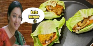 How to make keto burger||  Anupma style veg keto burger||Burger recipe😋