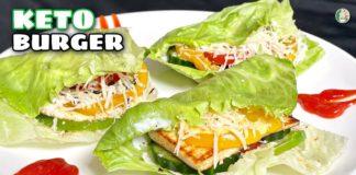 Keto Burger Recipe - Veg Paneer Keto Burger | Quick and Easy low carb Keto recipe - Sattvik Kitchen