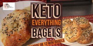 Keto Everything Bagels #KETOBREAD #LOWCARBBREAD #KETORECIPES #BAGELS #GLUTENFREE #KETOGENICDIET