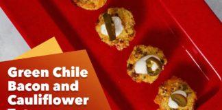 Keto Green Chile Bacon and Cauliflower Tots Recipe