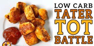 "Low Carb ""TATER TOT"" Battle - The BEST Keto Veggie Tot Recipe!"