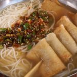 Noodle soup with fish cakes (Eomuk-guksu: 어묵국수)