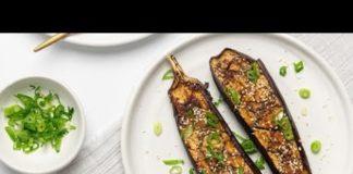 Teriyaki Sesame Baked Eggplant (Vegan) Recipe
