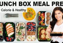 HEALTHY MEAL PREP | 5 Make-Ahead Lunch Box Ideas for Health & Weight Loss (including snacks!)