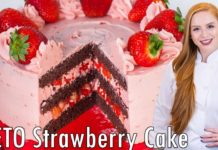 KETO Chocolate Strawberry Cake Recipe - Low-Carb, Low-Sugar Cake Recipe!!
