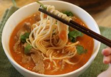 Tomato Soup Recipe w/ Beef and Noodles