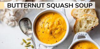BUTTERNUT SQUASH SOUP    Roasted butternut squash soup recipe