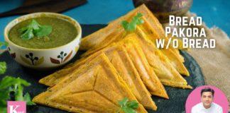 Bread Pakora without Bread   Healthy Bread Pakora Recipe   Kunal Kapur Recipes   Quick Snacks Recipe