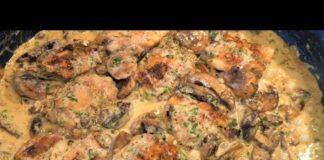 Creamy Garlic Mushroom Chicken Recipe   Keto Chicken Thighs With Creamy Mushroom Garlic Sauce